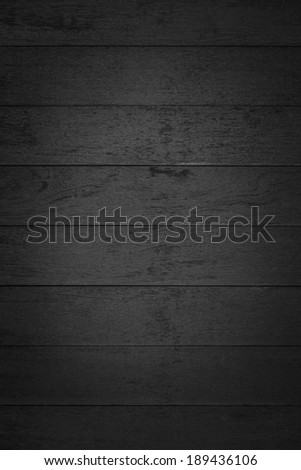 Black wood plank wall texture background - stock photo