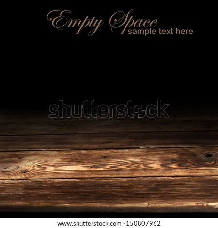 black wooden space  - stock photo