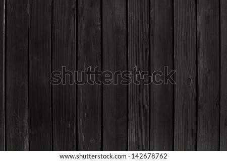 black wooden wall - stock photo