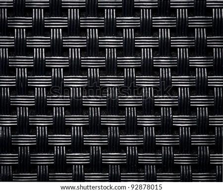 black woven texture - stock photo