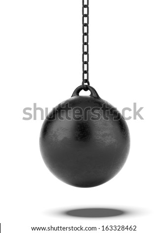 Black Wrecking ball - stock photo