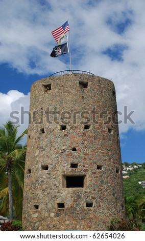 Blackbeardâ??s Castle, St. Thomas, U.S. Virgin Islands - stock photo