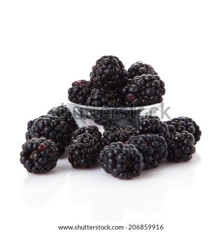 blackberries - stock photo
