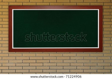 blackboard at bricks wall