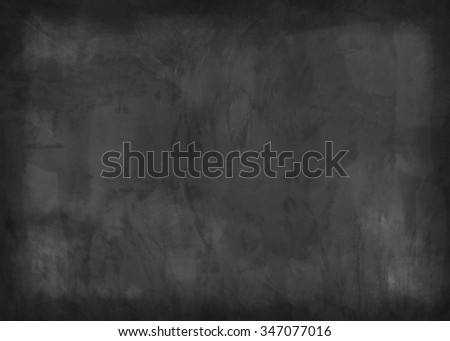 Blackboard / chalkboard texture. Empty blank black chalkboard - stock photo