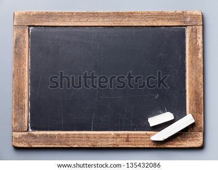 Blackboard chalkboard texture with chalk