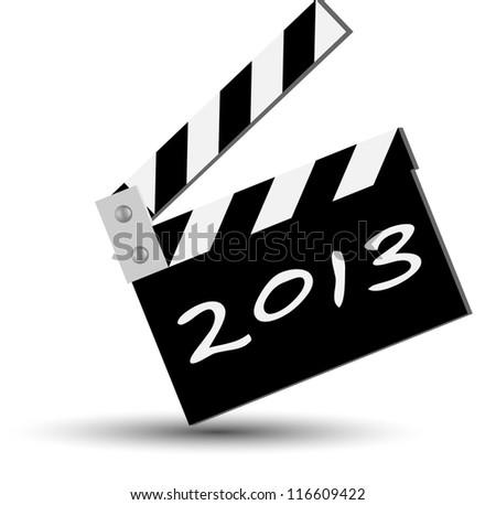 blackboard for new 2013 year - stock photo