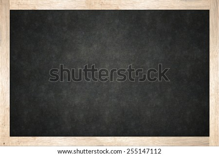 blackboard in wooden frame - stock photo