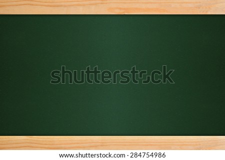 blackboard in wooden frame with green