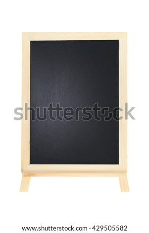 blackboard isolate white background - stock photo