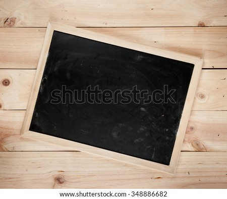 Blackboard on a wooden