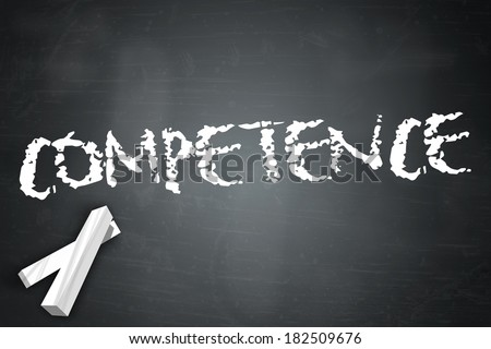 Blackboard with Competence wording