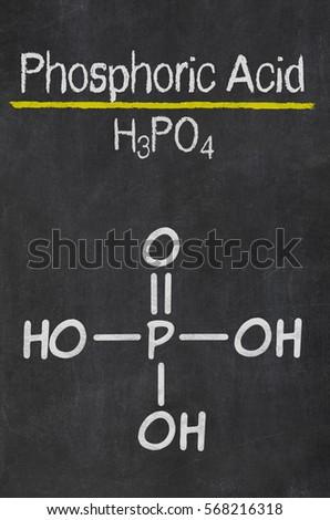 Blackboard Chemical Formula Phosphoric Acid Stock Photo Royalty