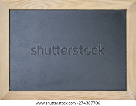 Blackboard with wooden frame for background : Chalkboard with pine wood frame for adding text