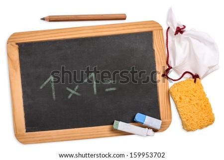 Blackboard with 1x1 - stock photo