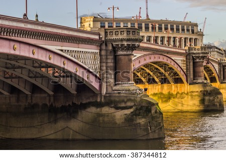 Blackfriars bridge - stock photo