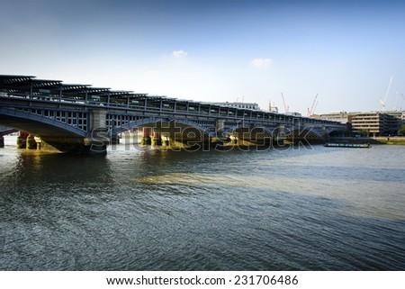 Blackfriars Bridge London - stock photo