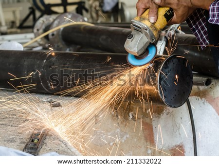 Blacksmith is working with Such as welding, cutting