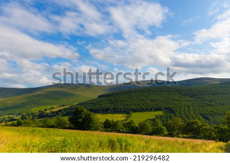 Blackstairs Mountains seen from Carlow - stock photo