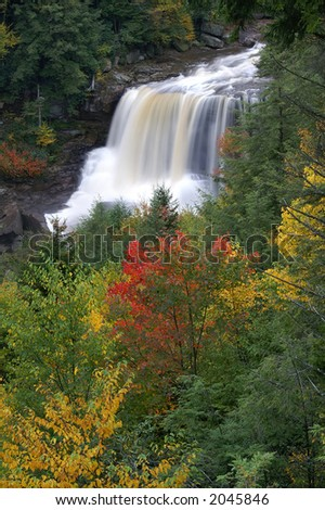 Blackwater Falls West Virginia in Autumn Vertical - stock photo
