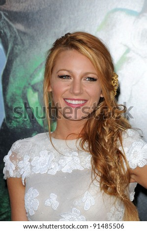 "Blake Lively at the ""Green Lantern"" Los Angeles Premiere, Chinese Theater, Hollywood, CA. 06-15-11 - stock photo"