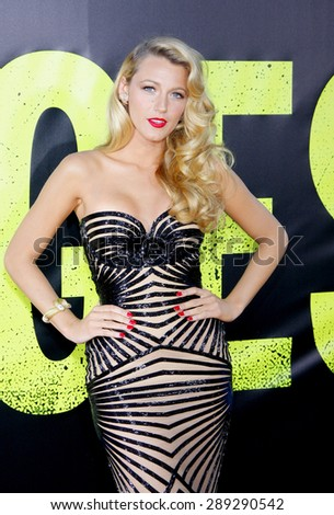 "Blake Lively at the Los Angeles premiere of 'Savages"" held at the Mann Village Theatre in Westwood on June 25, 2012."
