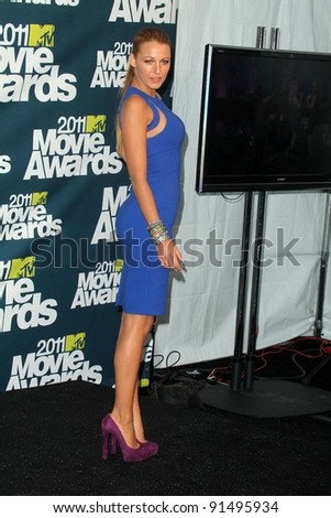 Blake Lively at the 2011 MTV Movie Awards Press Room, Gibson Amphitheatre, Universal City, CA. 06-05-11 - stock photo