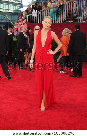 Blake Lively at the 61st Annual Primetime Emmy Awards. Nokia Theatre, Los Angeles, CA. 09-20-09
