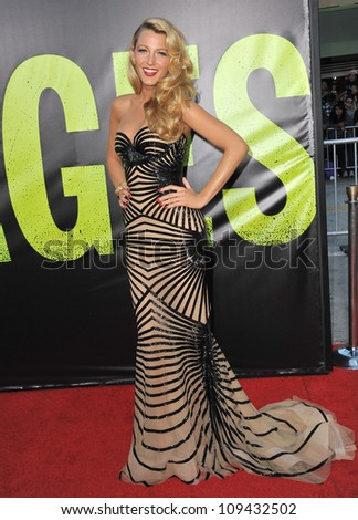 "Blake Lively at the world premiere of her movie ""Savages"" at Man Village Theatre, Westwood. June 26, 2012  Los Angeles, CA Picture: Paul Smith / Featureflash"