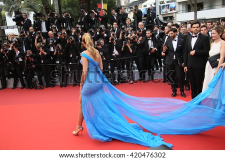 Blake Lively attends 'The BFG' premier during the 69th Annual Cannes Film Festival on May 14, 2016 in Cannes. - stock photo