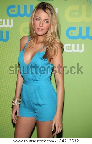 Blake Lively, wearing an Adam romper, at The CW Network Upfronts, Madison Square Garden, New York, NY May 21, 2009