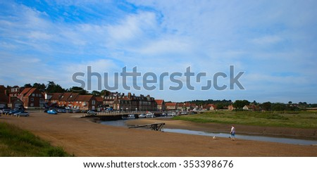 Blakeney harbour, Norfolk, England, UK. - stock photo