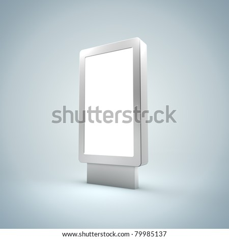 Blanc Vertical Billboard - stock photo