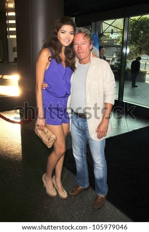 "Blanca Bianco, John Savage at the Los Angeles Premiere of ""The Magic of Belle Isle,"" DGA, Los Angeles, CA 06-20-12 - stock photo"