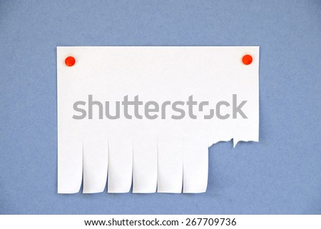 Blank ads on the blue background - stock photo