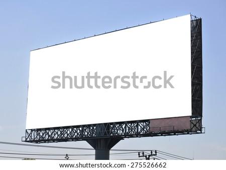 blank advertising billboard - stock photo