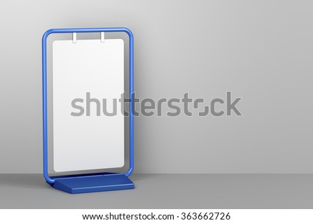 Blank advertising stand, 3d rendered image  - stock photo