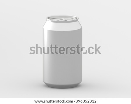 Blank Aluminum drink can. 3D illustration