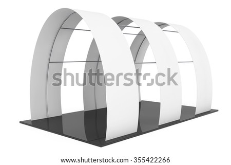 Blank Arc Promotion Stand on a white background - stock photo
