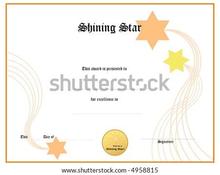 Blank Award Certificate Form Stock Illustration 4958815 - Shutterstock
