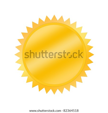 Blank award medal isolated on white - stock photo