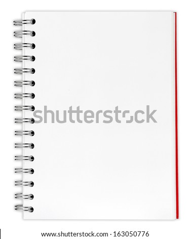 blank background. paper spiral notebooks isolated on white background