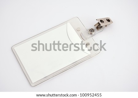 Blank badge on a white background