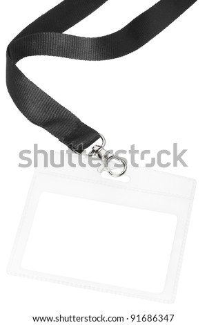 Blank badge or ID isolated on white background, clipping path included - stock photo