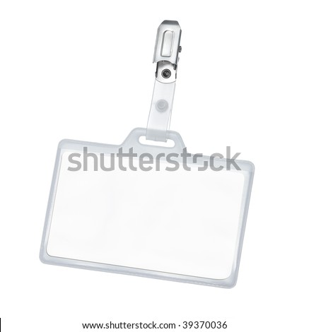 Blank badge with clipping path - stock photo