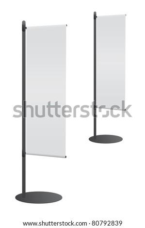 Blank banner flag for designers - stock photo