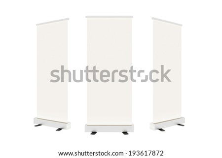 Blank banner,White back ground