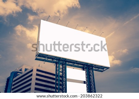blank billboard - design advertising outdoor public commercial - stock photo