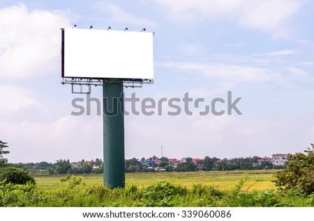 Blank billboard for advertisement - stock photo