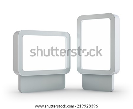 Blank Billboard for Copy Space. - stock photo